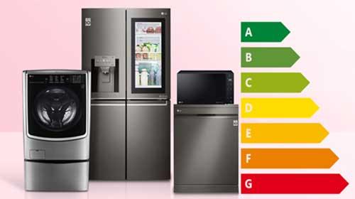 میزان مصرف انرژی در لوازم خانگی گوناگون